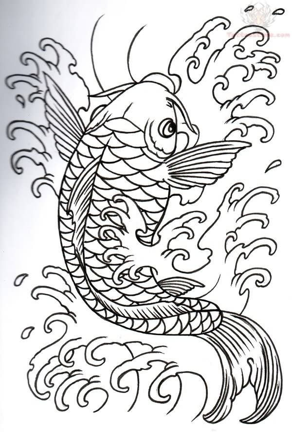 600x888 Collection Of Japanese Fish Tattoo Designs