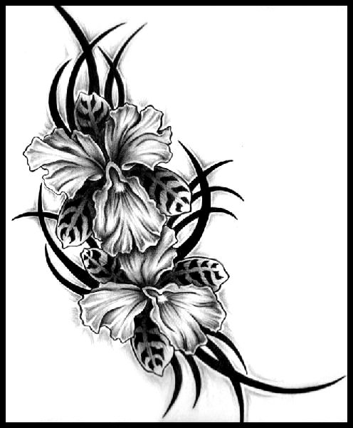 496x601 Floral Japanese Tattoo Design In 2017 Real Photo, Pictures