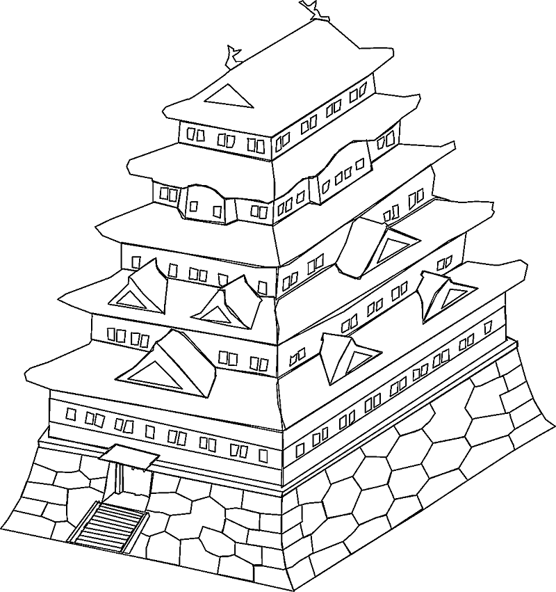 800x851 Japanese Religion Coloring Pages
