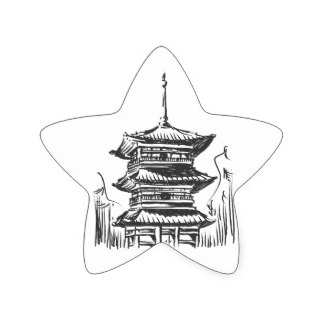 324x324 Sketch Of Japan Landmark Gifts On Zazzle