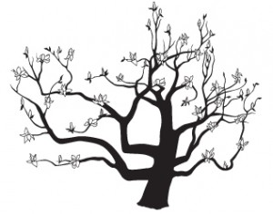 300x236 Wedding Logo Japanese Magnolia Tree What's Jenny Making
