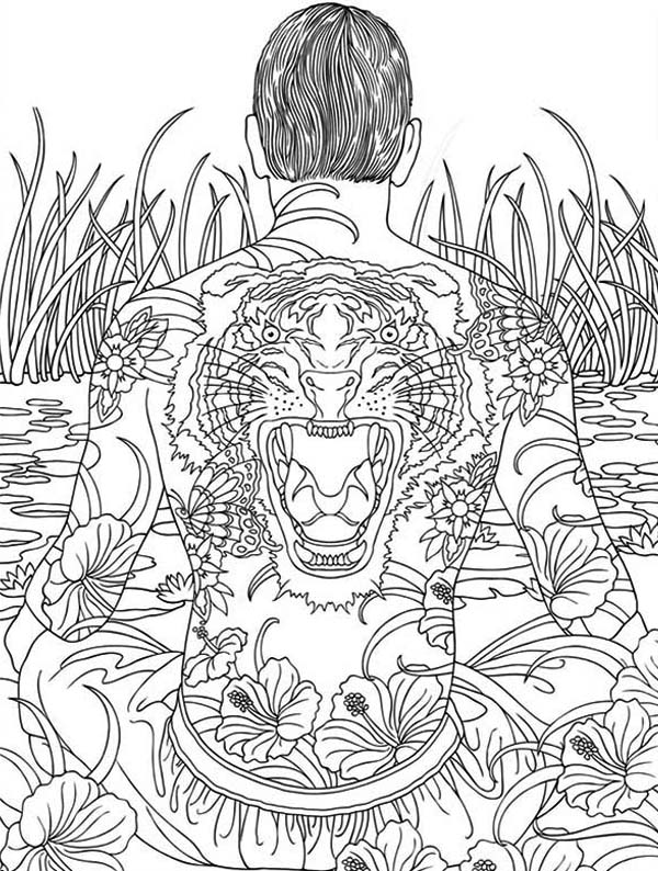 600x794 Japanese Yakuza Trippy Coloring Pages Batch Coloring