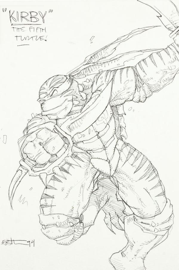 600x905 Turtles Xtreme! Kevin Eastman's Concept Art For Unmade 4th Turtle