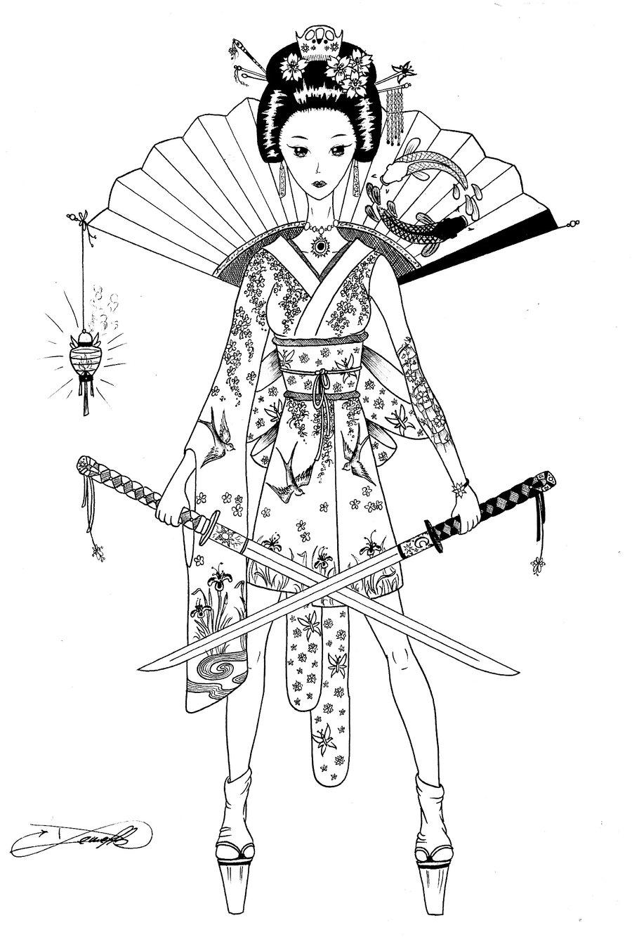 900x1333 Japanese Warrior By Adsidemelki
