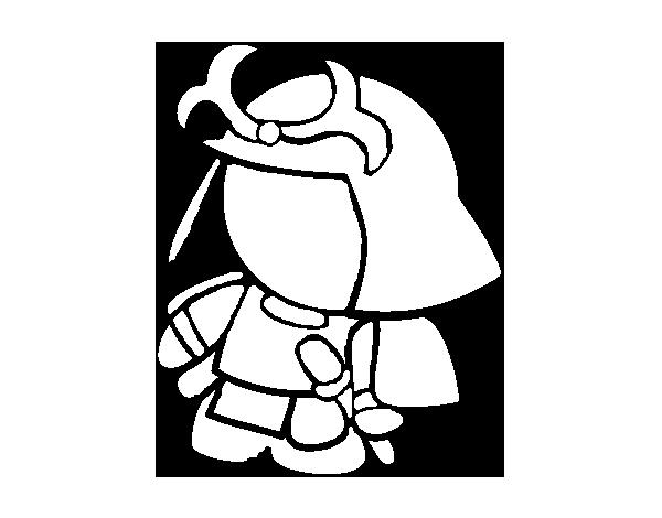 600x470 Samurai In Armor Coloring Page