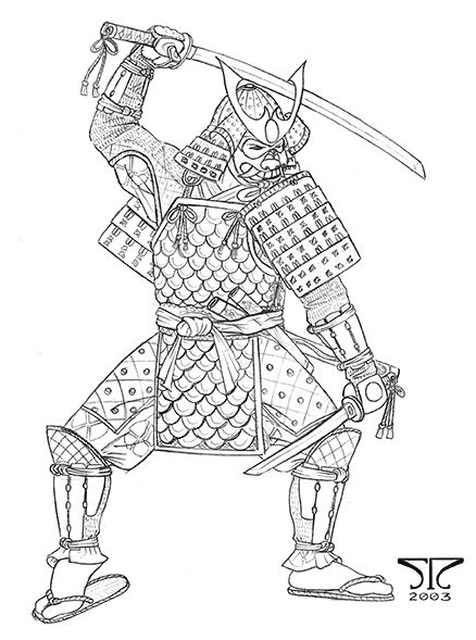 438x589 Drawn Samurai Japanese Samurai 3427683