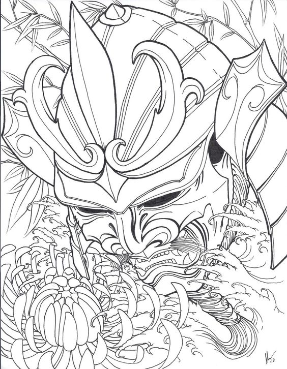 564x726 Samurai Head Flash By Xcjxedge On Tattoo Ideen