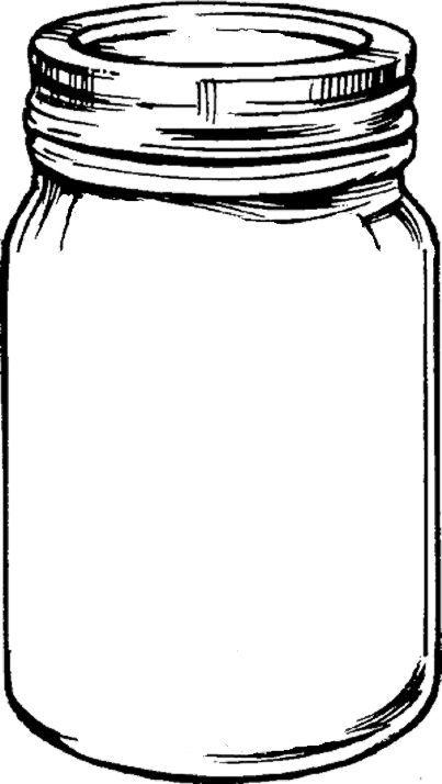 403x714 Drawing Of A Mason Jar