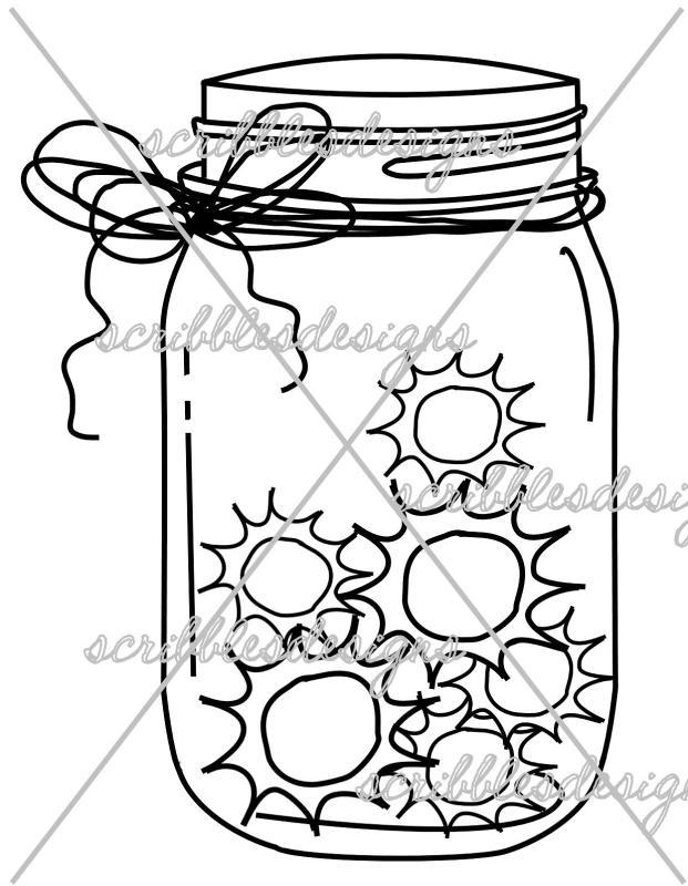 621x800 Firefly Jar Clipart
