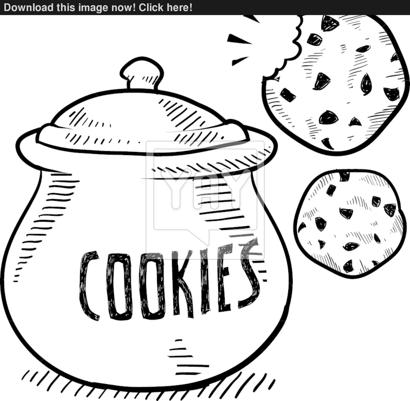 1600x1565 Cookie Jar Vector Sketch Vector