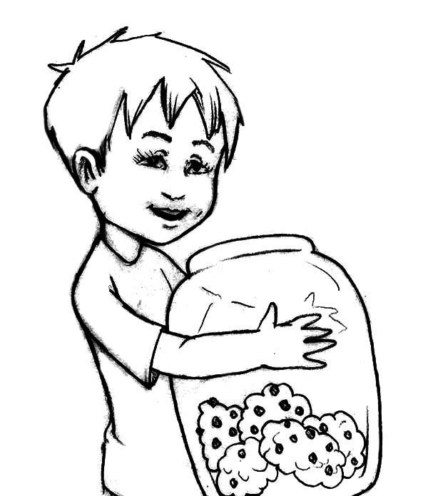 600x696 Drawing Cookie Jar Coloring Pages Coloring Sky