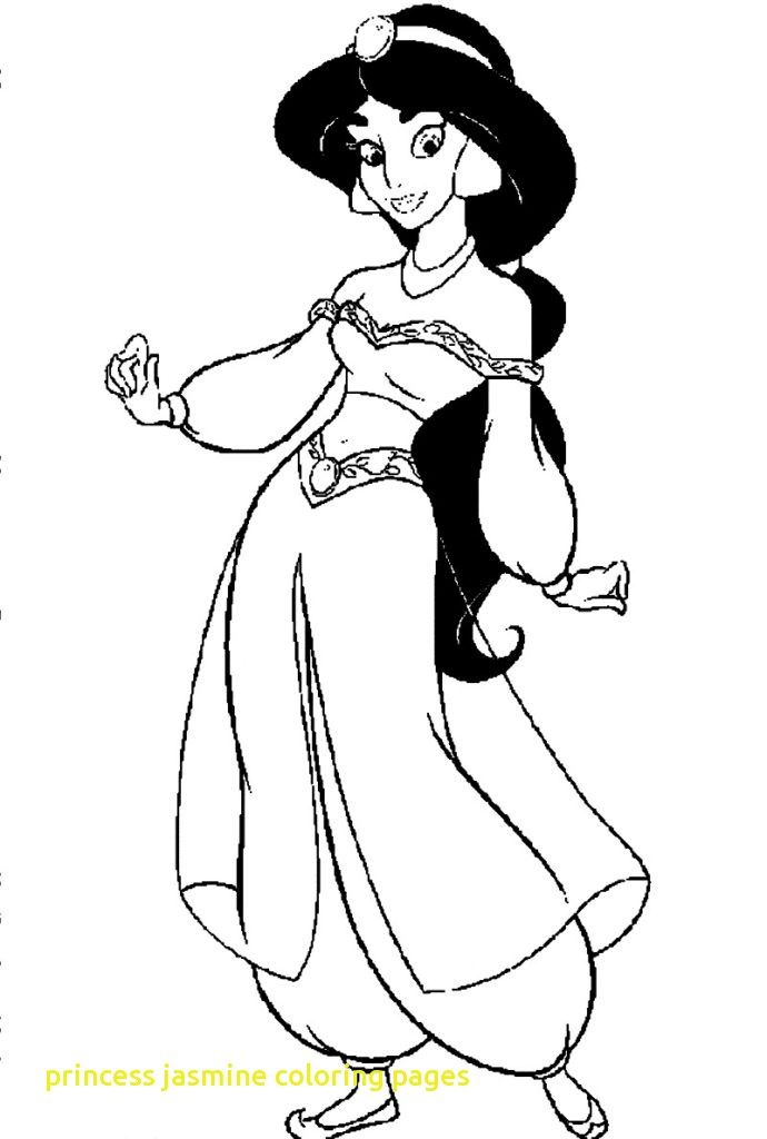 690x1024 Princess Jasmine Coloring Pages With Princess Jasmine Coloring