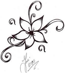265x300 Flower Tattoo By Shizuka Dono On Tattoos