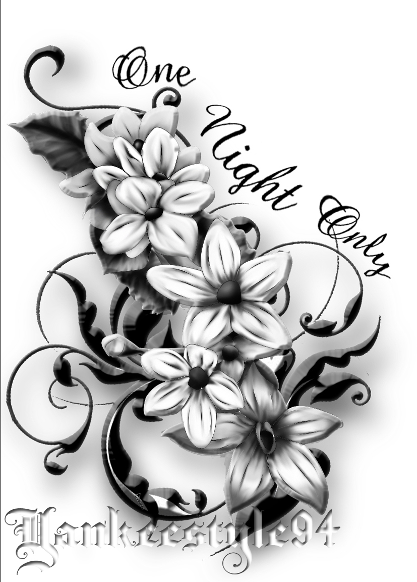 Jasmine Flower Drawing Tattoo At Getdrawings Free For Personal