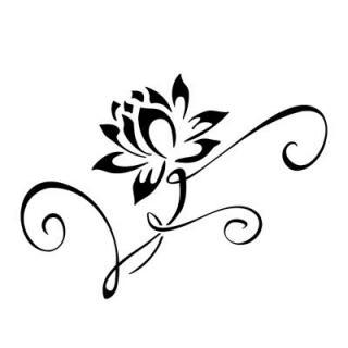 320x320 Simple Flower Tattoo Ideas Elaxsir