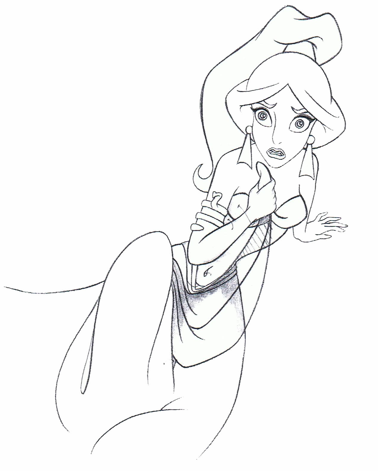 1267x1579 Princess Jasmine Sketch Disney Princess Sketches Color