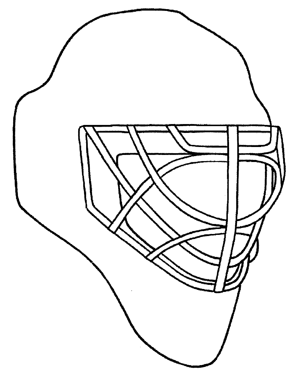 1000x1279 Hockey Mask Invented Coloring Page Hockey Theme Coloring Pages