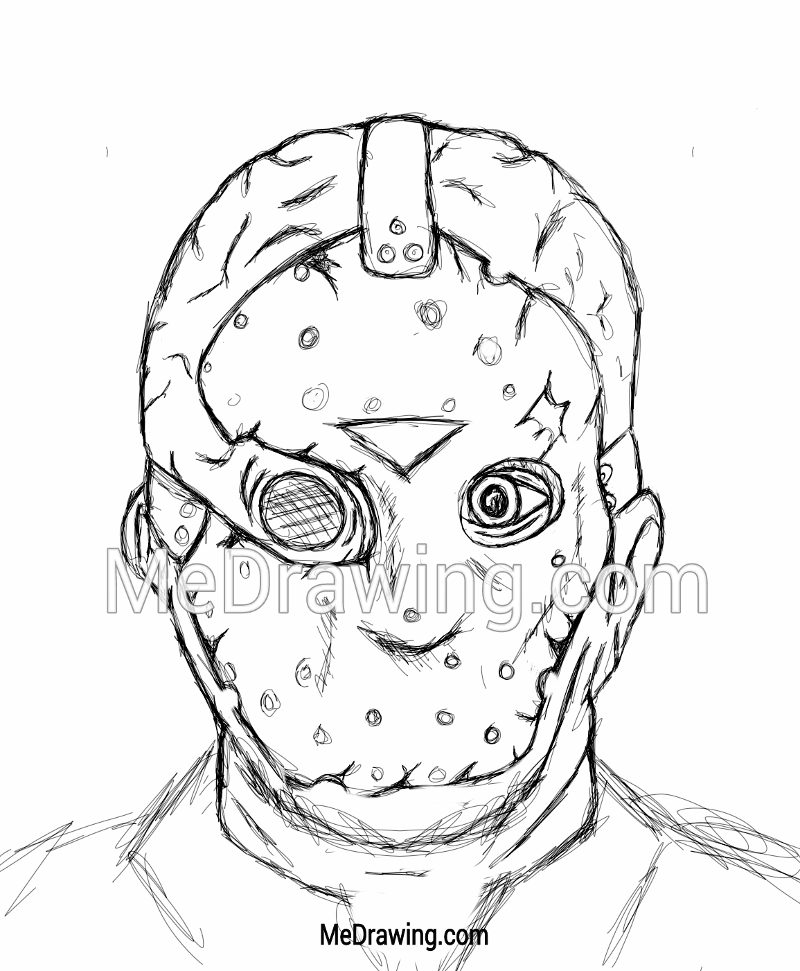 1155x1401 Jason Voorhees Friday The 13th Sketch