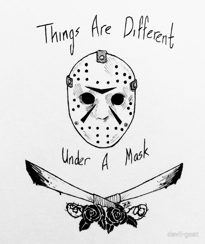 673x800 Things Are Different Under A Mask Canvas Prints By Devil Goat