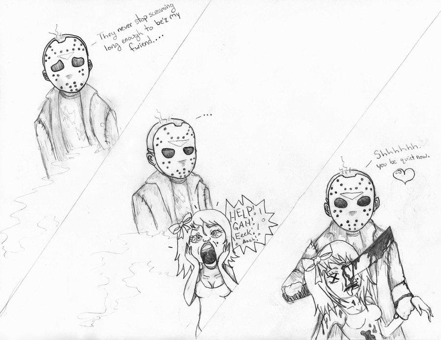 900x695 Jason Voorhees Needs Friends Too By Stimbleweed