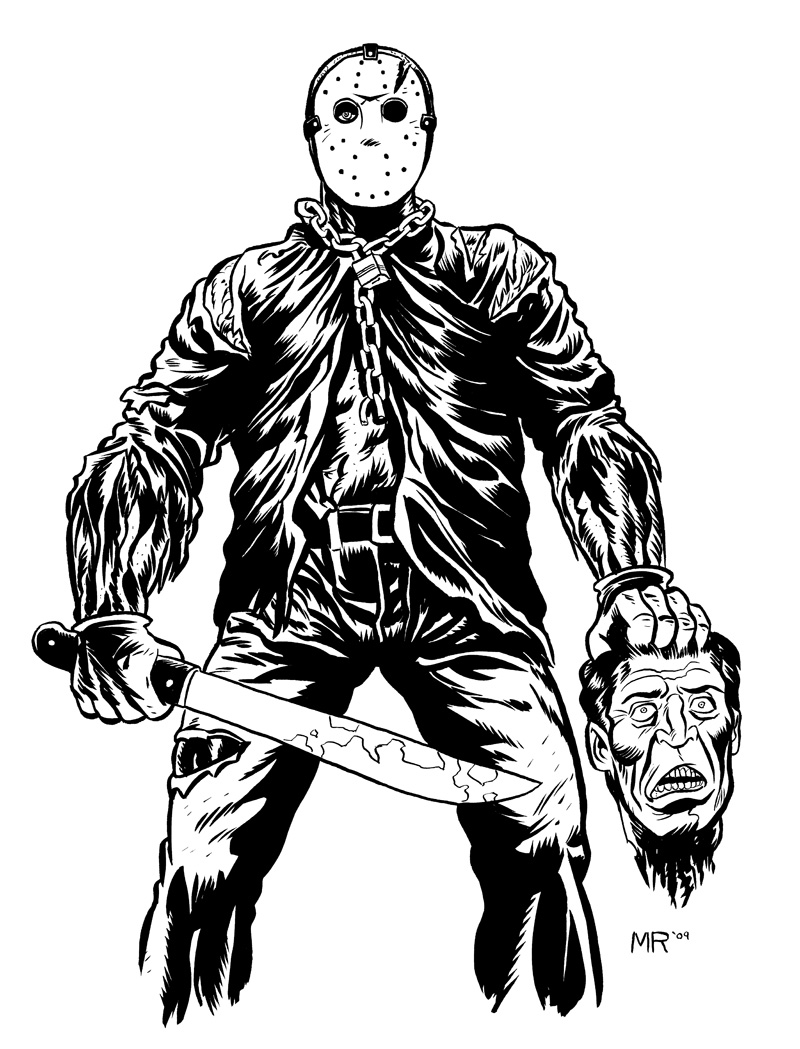 Jason Voorhees Drawing at GetDrawings.com | Free for personal use ...