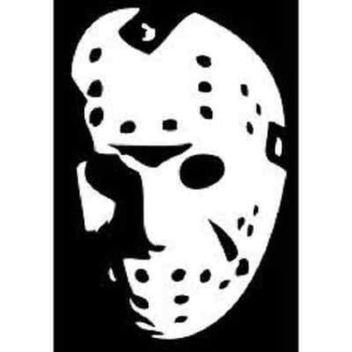 500x500 Jason Voorhees Mask Friday The 13th Vinyl Decal Stickerwalls Cars