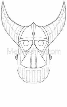 236x377 Evil Deer Head Colored Drawing Colored Drawings