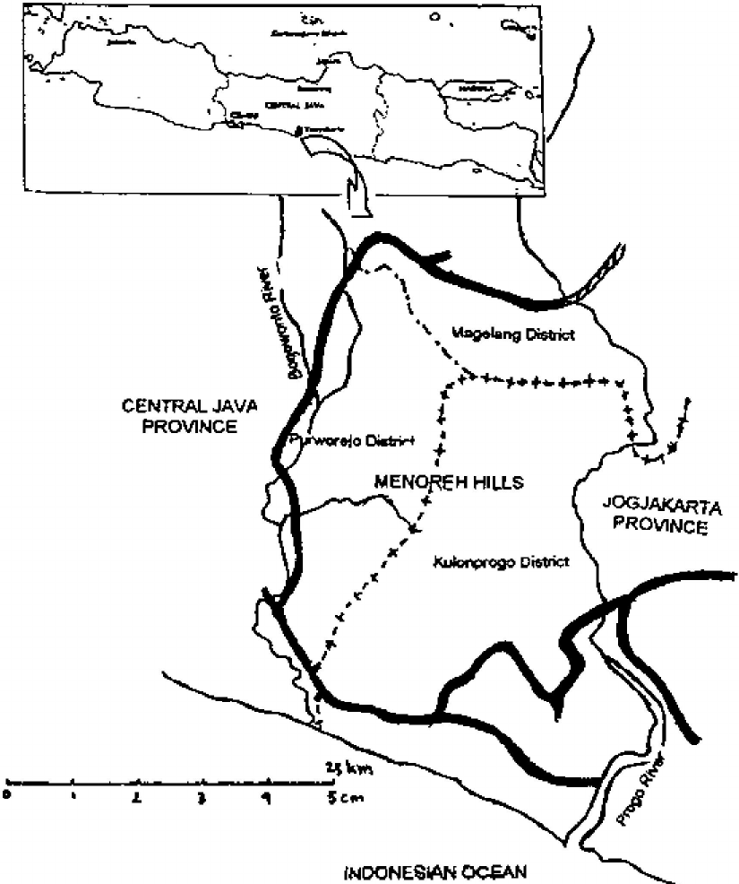 825x986 Map Of Menoreh Hills Central Java, Indonesia