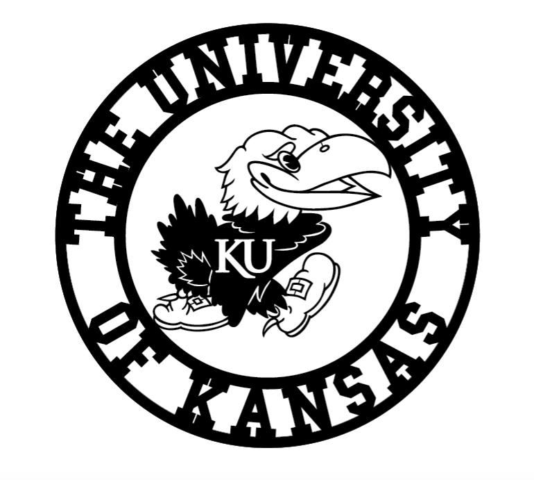 770x691 Kansas Metal Jayhawk Sign