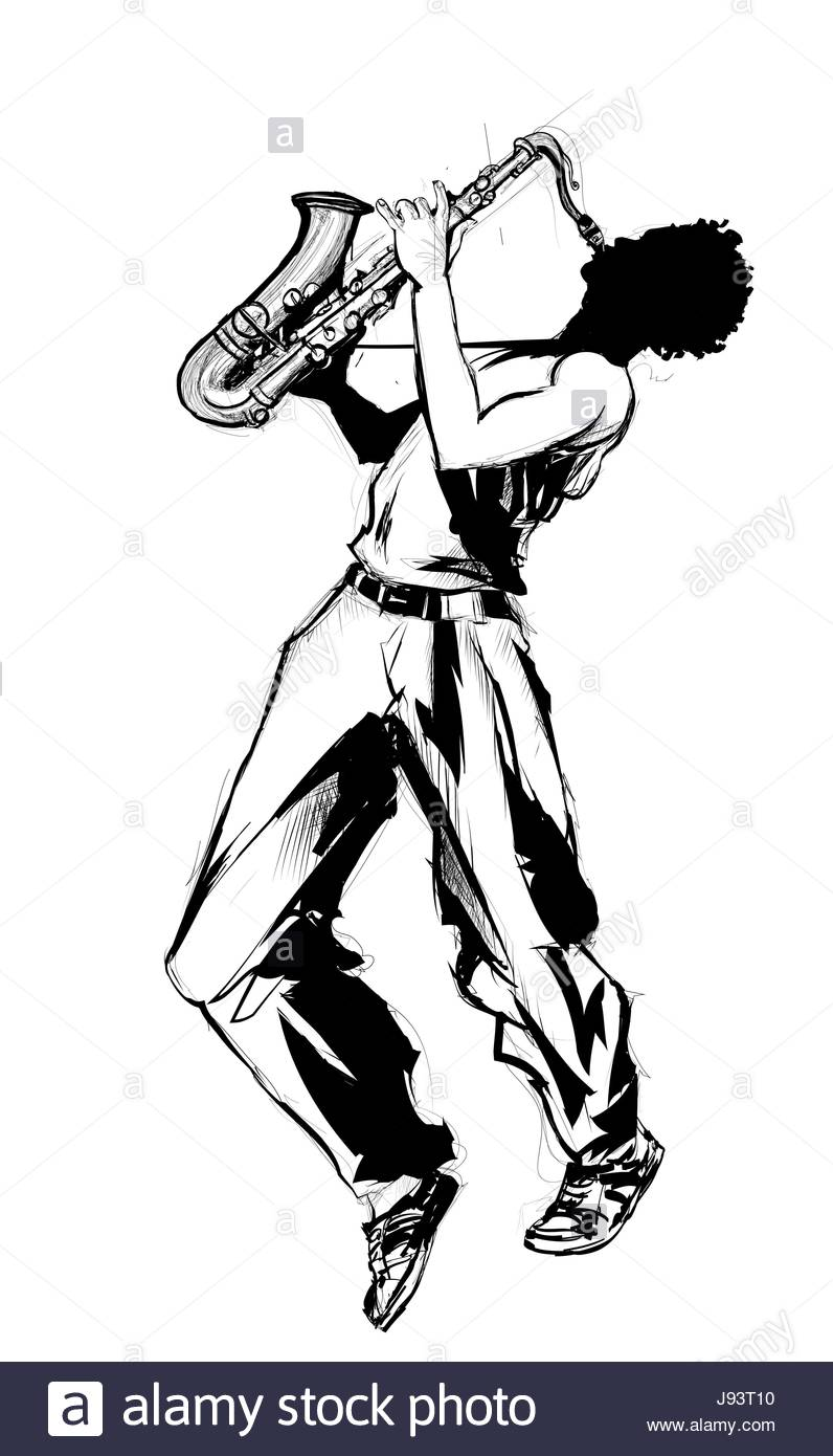 796x1390 Jazz Saxophone Player