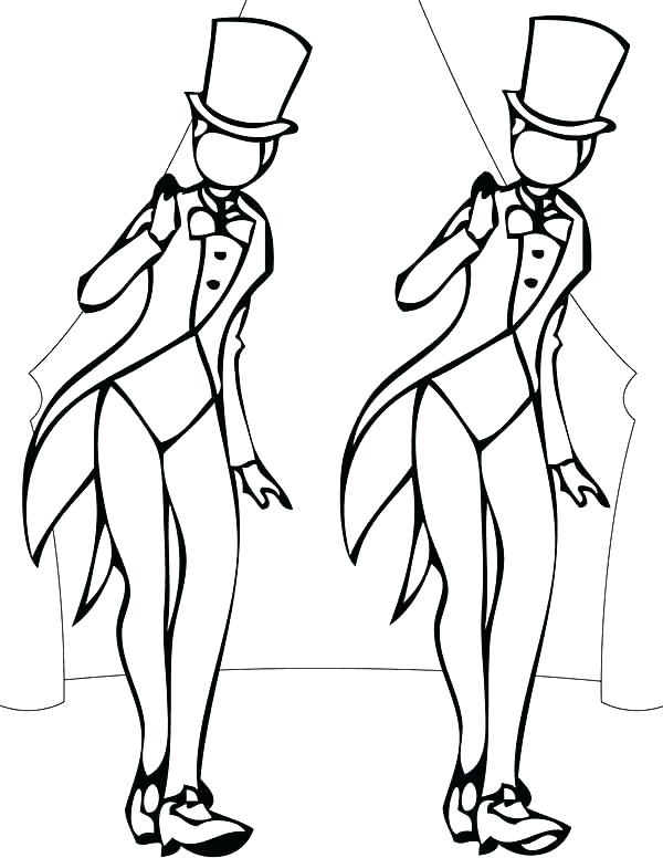 600x776 Dance Coloring Page