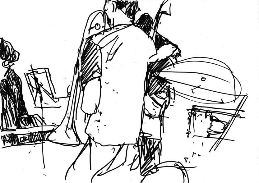 833x589 Christian Barthold Drawing Jazz