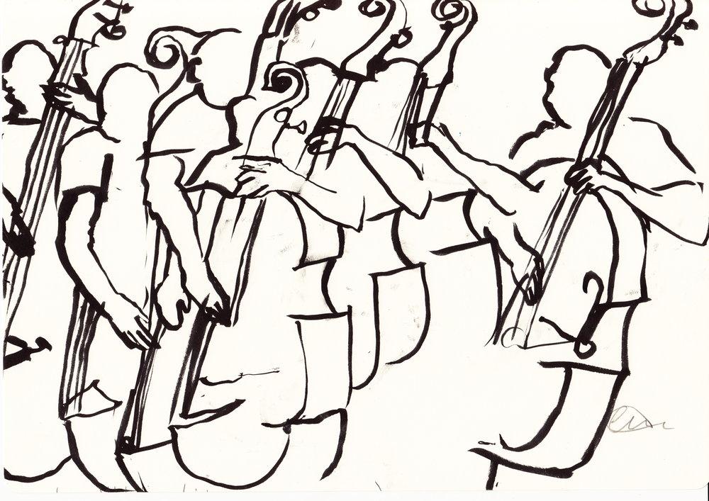 1000x707 Shop Jazz Festival Drawings Lau Art