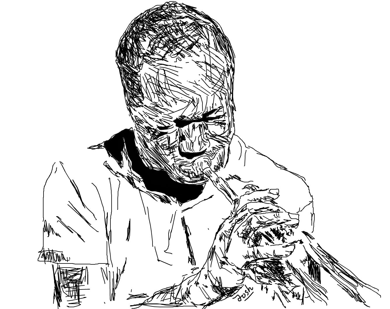 1335x1059 Sketch Of Clifford Brown, Famous Jazz Musician Who Didn'T Make His