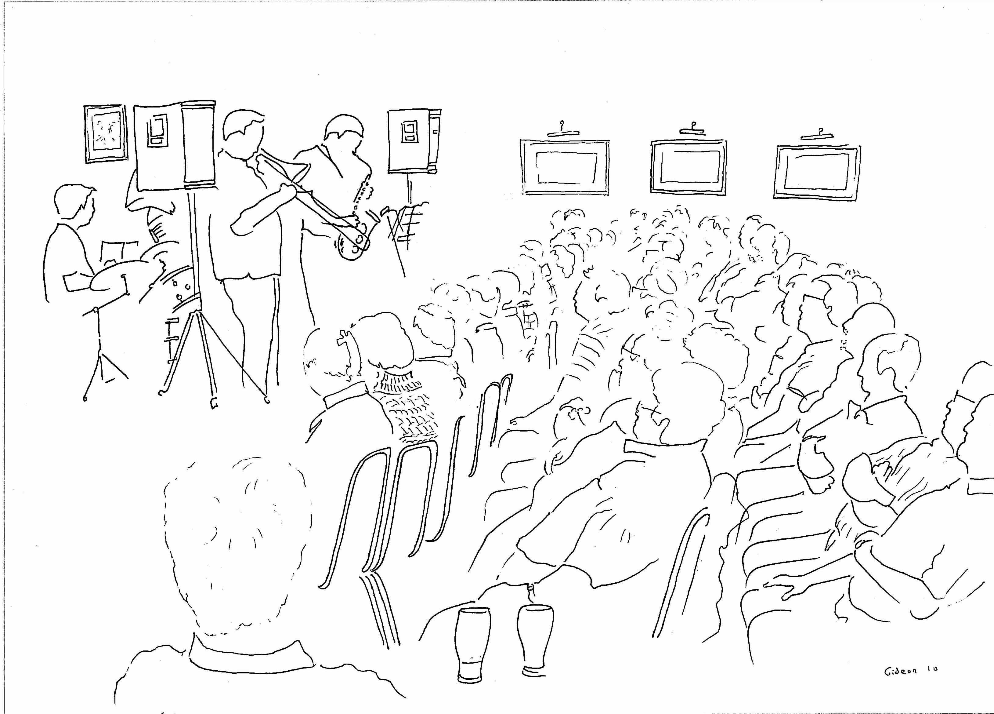 3257x2338 Wigan Jazz Festival Drawing Gideon Conn