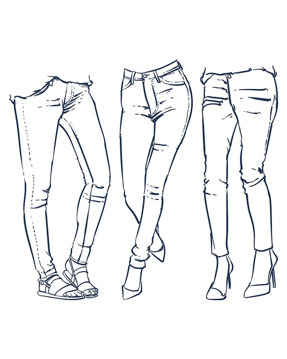 The Best Free Jeans Drawing Images  Download From 183 Free