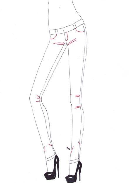 450x624 How To Draw Skinny Jeans Step 4 Jmw01262015mond