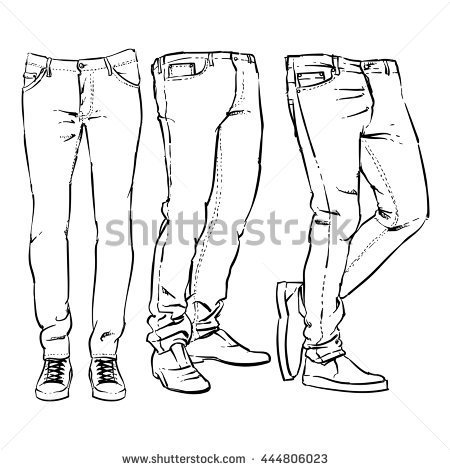 450x470 Image Result For Jeans Drawing Silhoutte