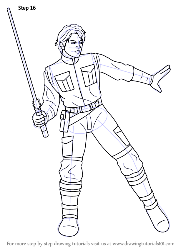 598x844 Learn How To Draw Jacen Solo From Star Wars (Star Wars) Step By