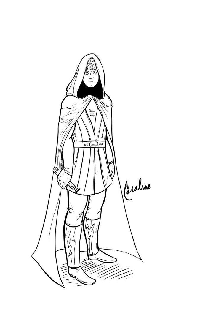 719x1111 Luke Skywalker In Return Of The Jedi By Adamclark