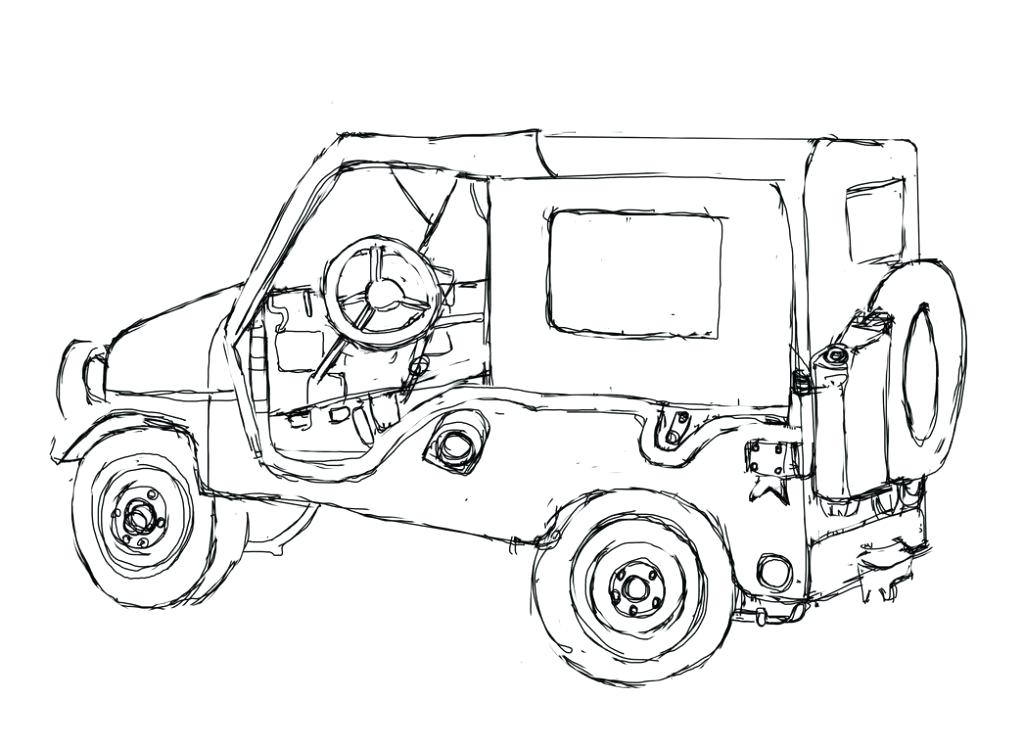 1024x747 Jeep Coloring Page Pages Twisty