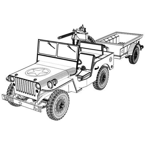 500x500 Willys Jeep Collection 3d Cgtrader