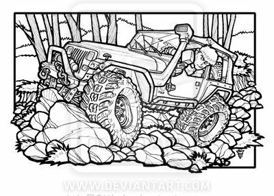 Jeep Drawing At Getdrawingscom Free For Personal Use Jeep Drawing