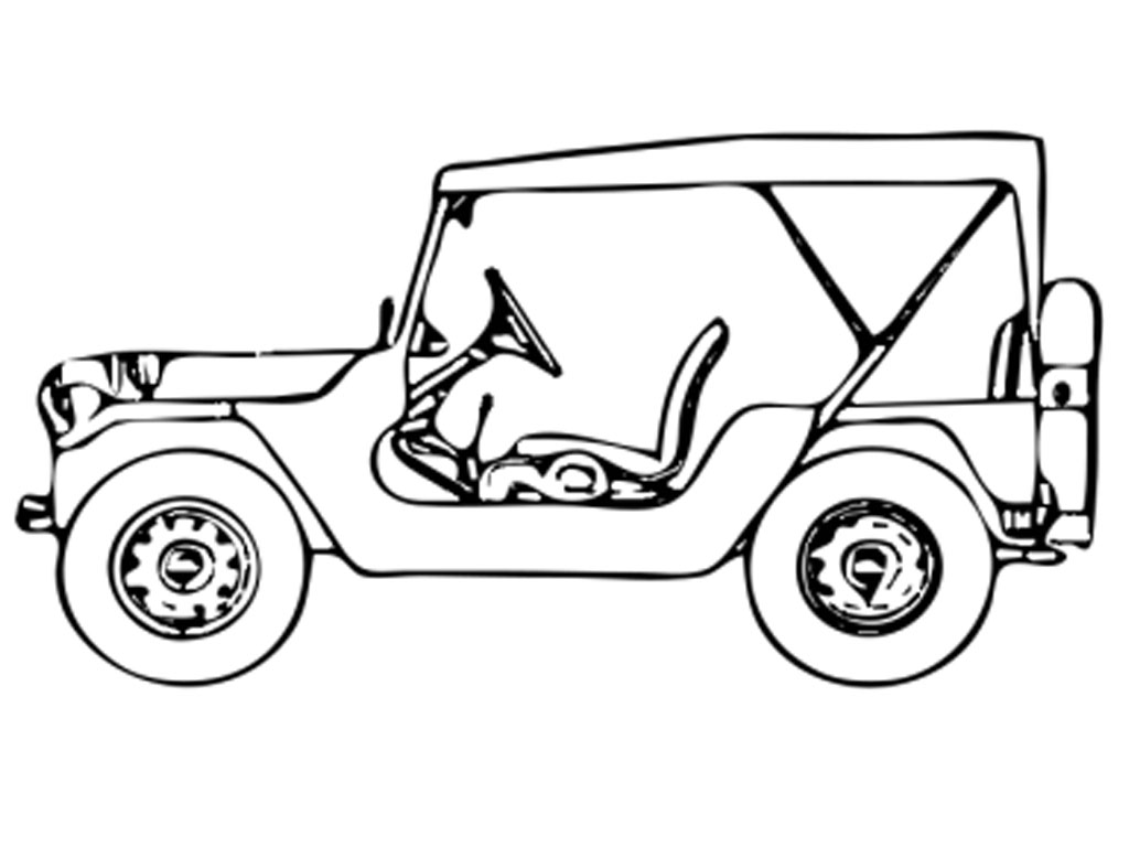 1024x768 Colouring Picture Jeep Cartoon Images Jeep Colouring Pages Page