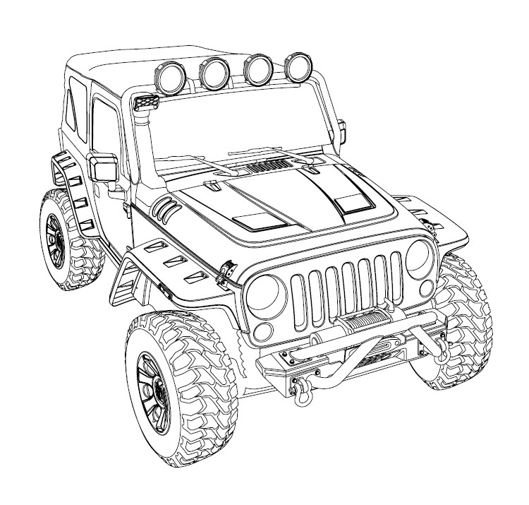 Jeep Line Drawing At Getdrawings Com