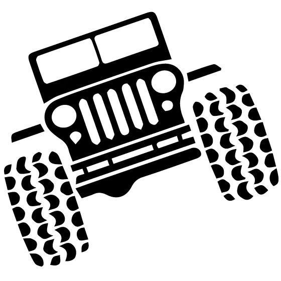 560x560 Jeep Clipart Black And White
