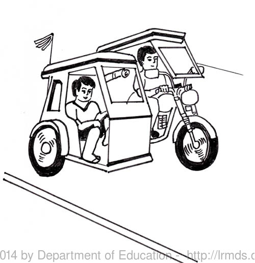 500x515 Philippine Tricycle Clipart Black And White