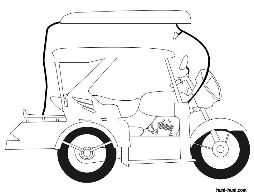 814x629 Philippine Tricycle Clipart Black And White