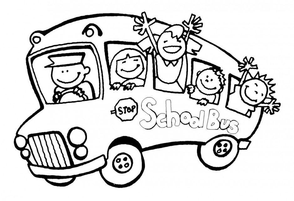 940x641 School Bus Driver Coloring Page Clipart Panda