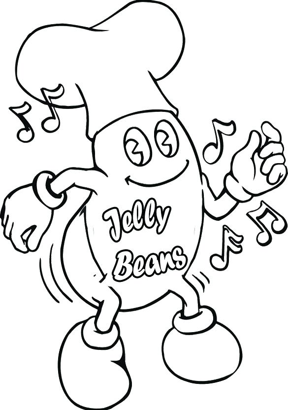 585x832 Jelly Bean Coloring Page Printable Bean Counter Picture Printable